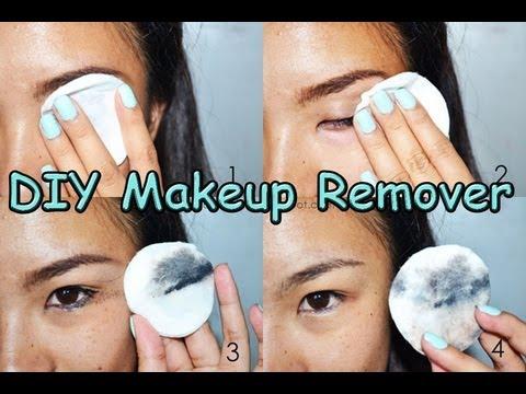 Homemade eye makeup remover