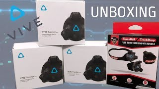 Vive Trackers and Straps Full Body VR Unboxing