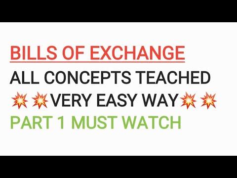 Bill of Exchange part 1