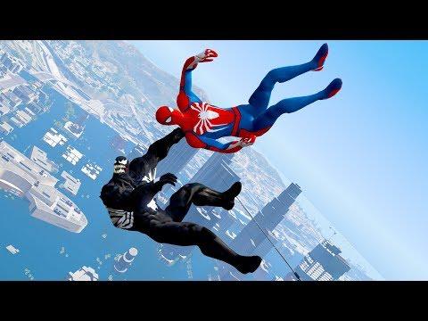GTA 5 Water Ragdolls | SPIDERMAN & VENOM Jumps/Fails #5 (Euphoria Physics)