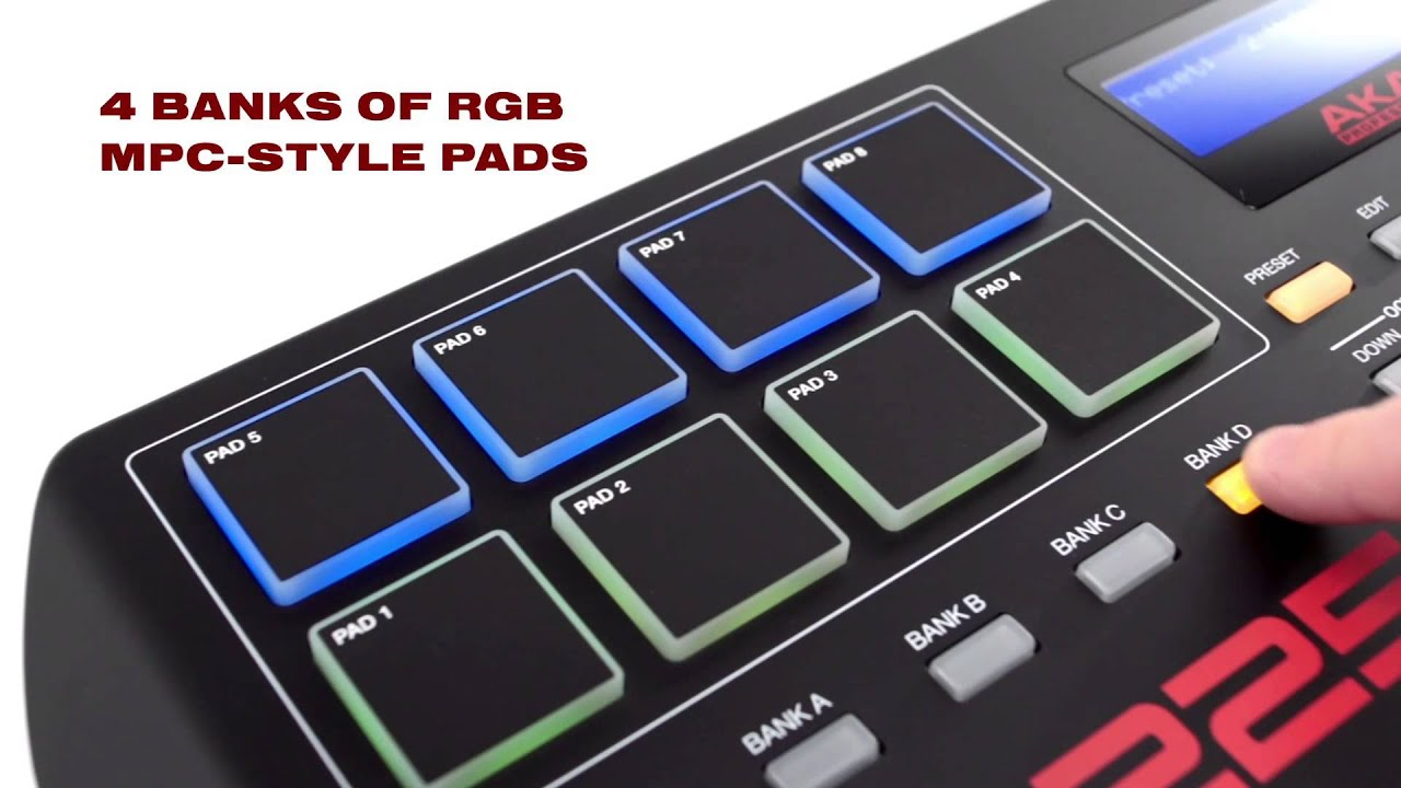 The All-New Akai Professional MPK225 Keyboard & Pad Controller - YouTube
