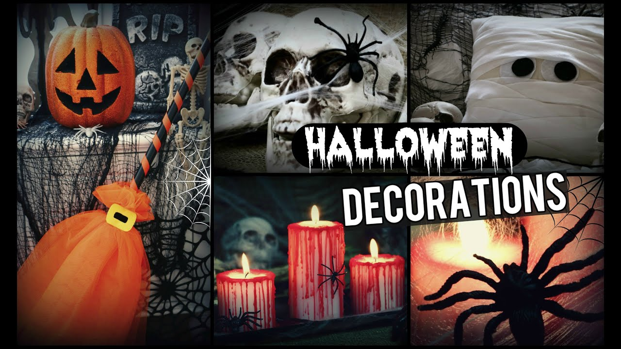diy halloween decorations how to spooky halloween room decor youtube