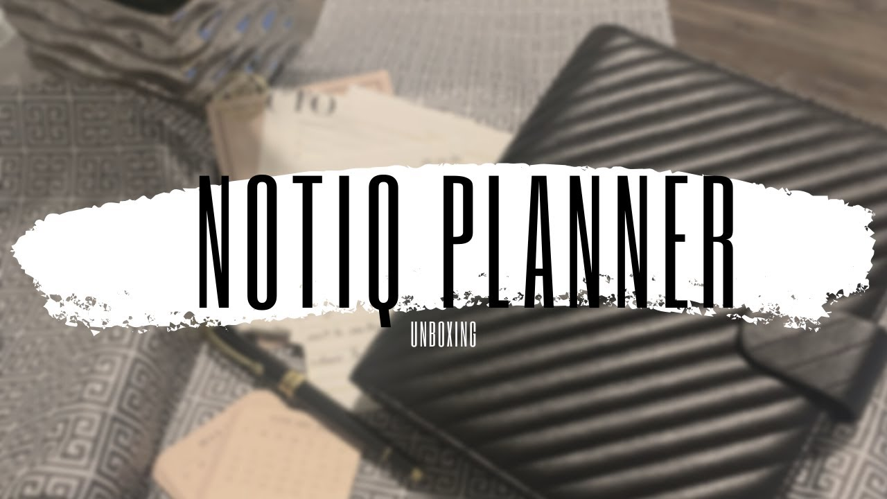 NOTIQ PLANNER UNBOXING! Q5 Classic Noir Quilted Black Vegan Leather Agenda Cover - A5 Rings
