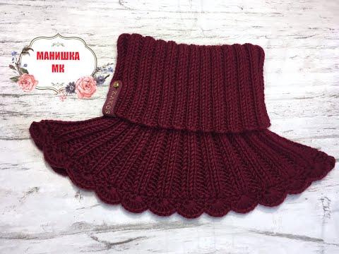 Манишка спицами для женщин на пуговицах схемы вязания