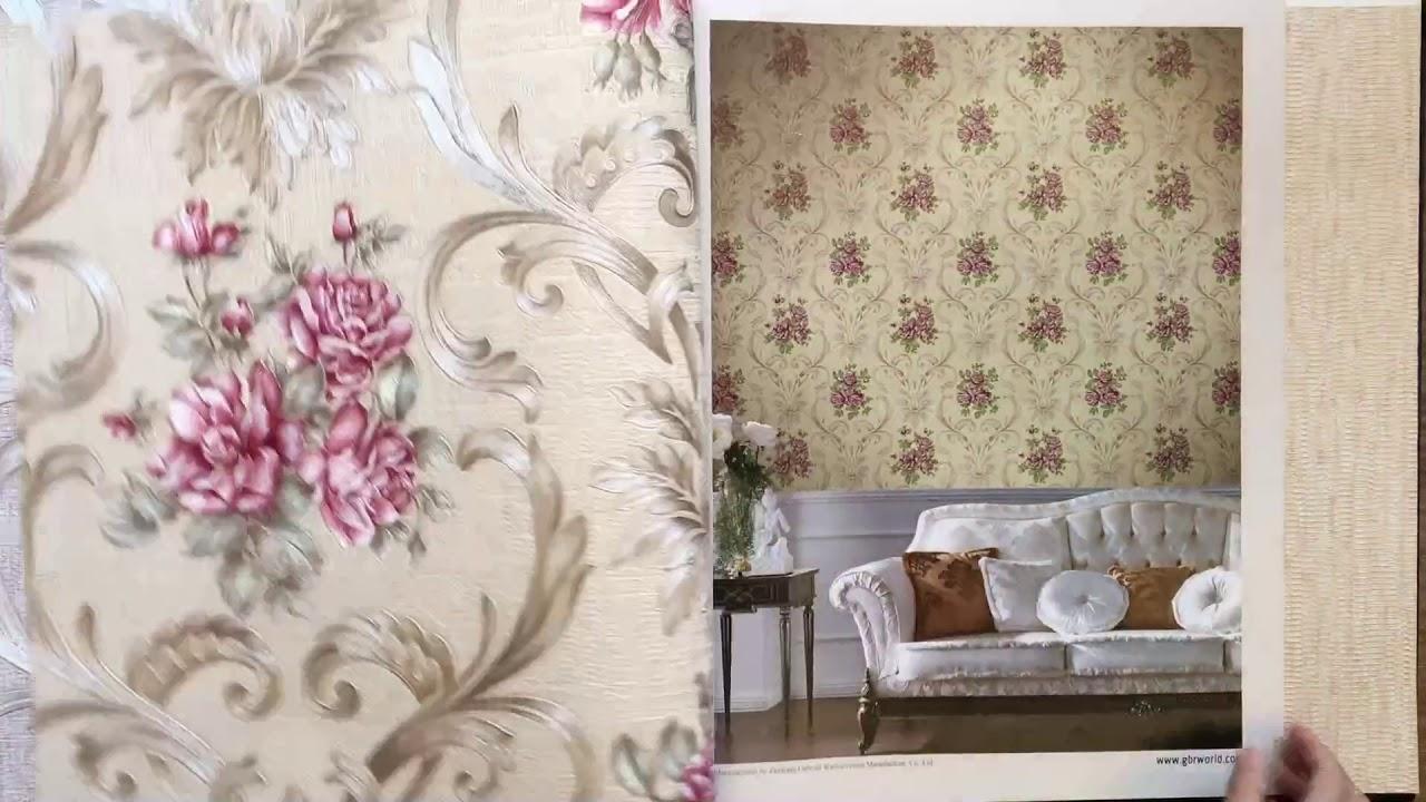 A28-9 Beautiful Flower Design Non-Woven PVC Wallpaper for Home ...