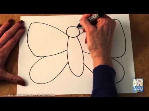 Teaching Kids To Draw How To Draw Butterfly