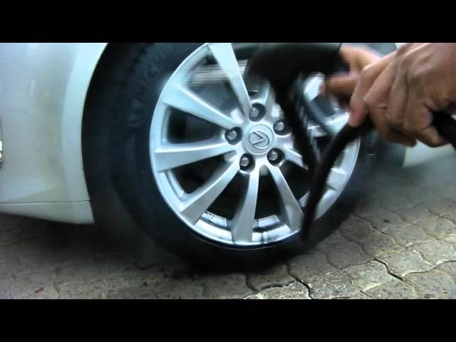 Durashine Technologies Astra Steamer Evo - Cleaning Wheels.wmv