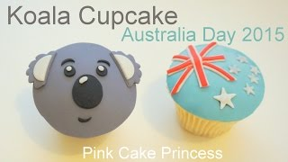 Koala Cupcake How to by Pink Cake Princess for Australia Day 2015