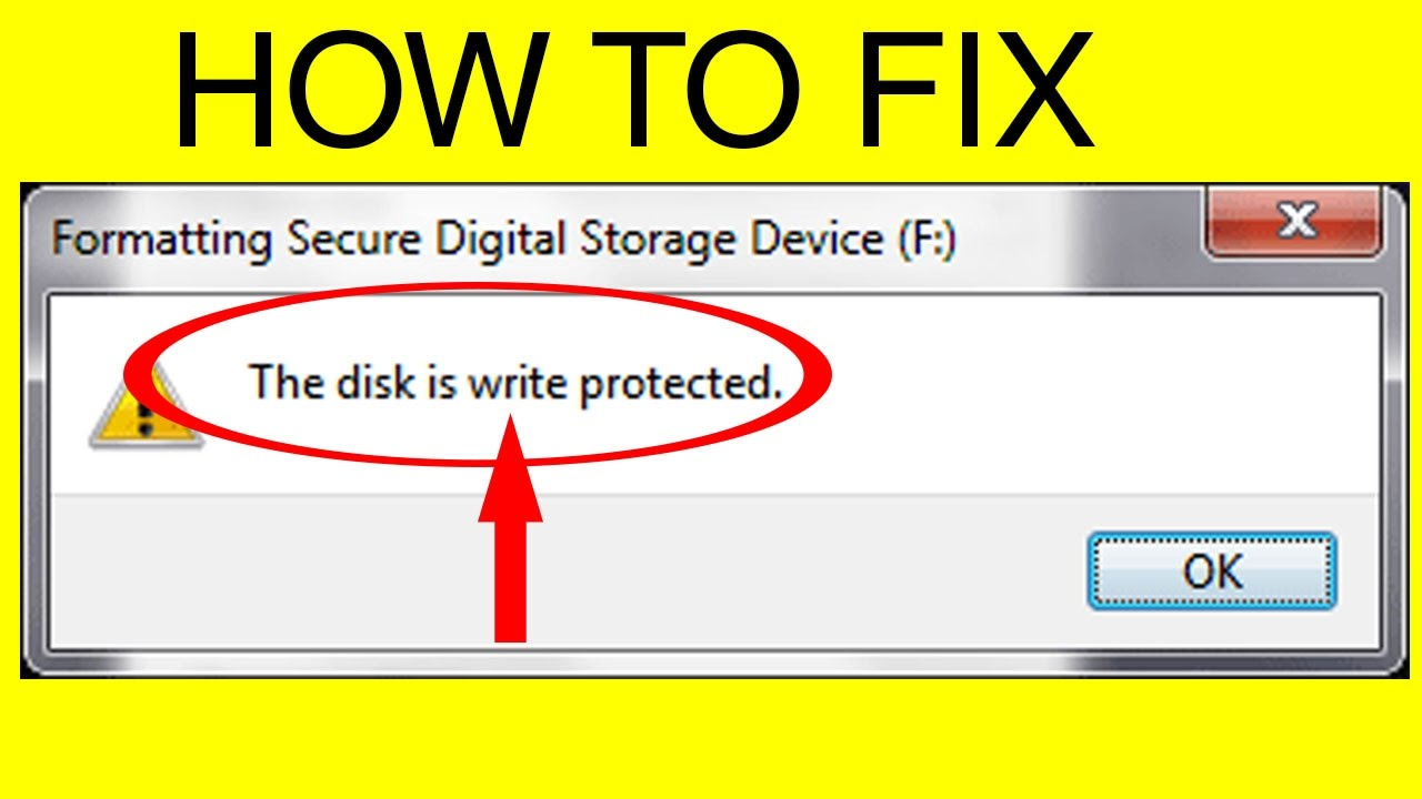 Format usb write protected