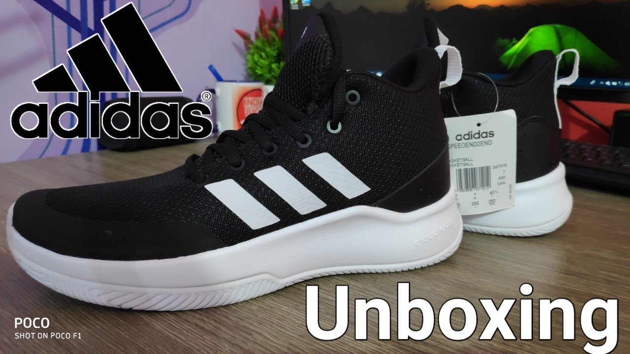 17adf6dec276 ADIDAS SPEEDEND2END Basketball Shoes Unboxing by Indian Jugad Tech ...