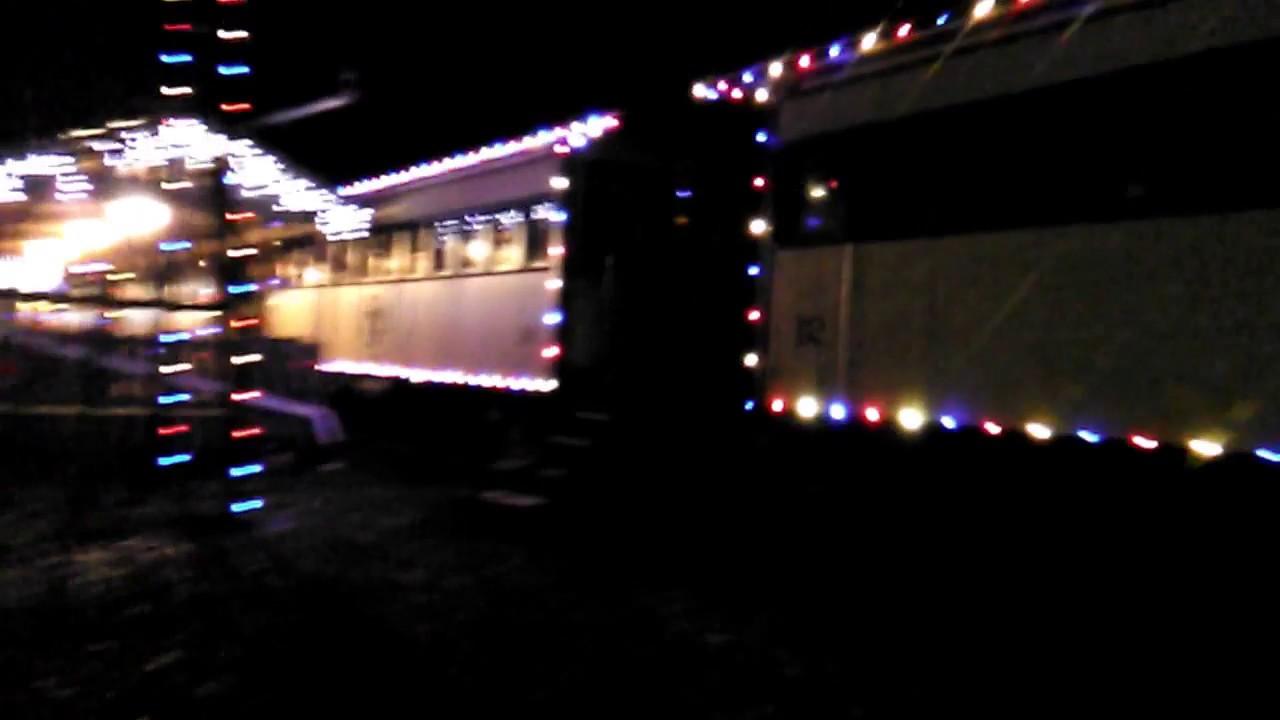 denton farmpark country christmas train departing - Christmas Train Denton Nc