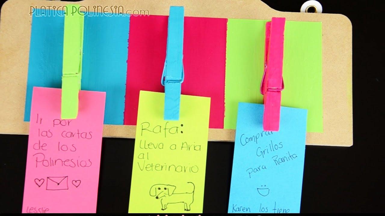 Manualidad: Sujetador de notas | Hazlo tu mismo, decoración para ...