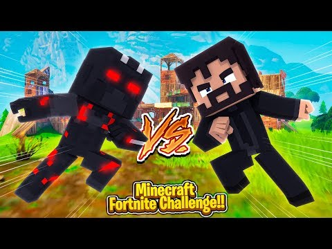 Minecraft Fortnite Challenge - BABY JOHN WICK vs BABY OMAGA!!!
