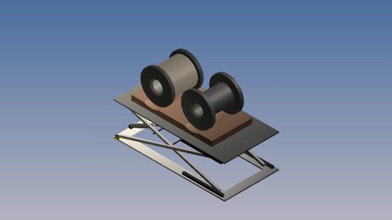 Sollevatore A Pantografo Pantograph Lifter Youtube