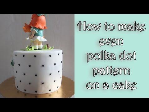 How To Make Even Polka Dot Pattern On A Cake / Jak Zrobić Równy Wzór Kropek Na Torcie