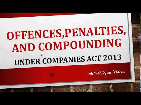 Offences, Penalties,its Adjudication & Compounding of offence under Companies Act, 2013