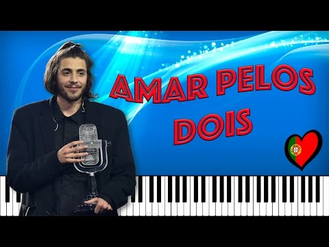 Amar Pelos Dois [WINNER Eurovision 2017 Portugal] Salvador Sobral (Tutorial Piano Midi Gratis)