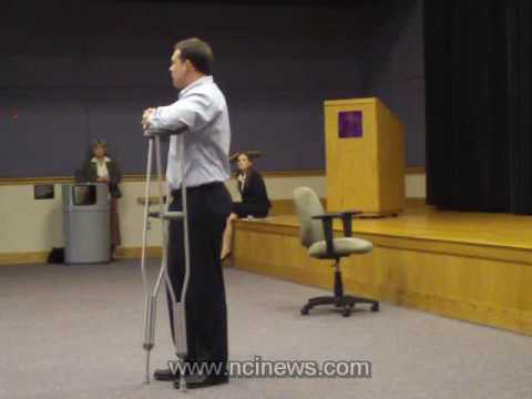 Congressman Heath Shuler at WCU 11/12/2009 Part 1