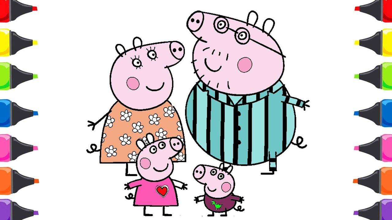üç Küçük Domuzcuk Masalı Peppa Pik Boyama Renkleri öğreniyorum Youtube