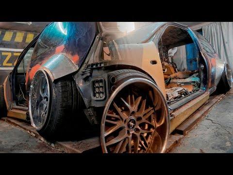 Расширение металлом арок и порога VW Golf 4