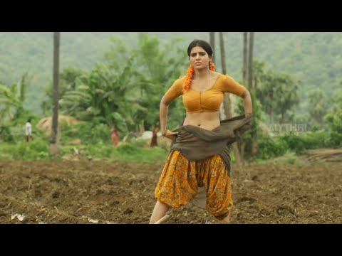Actress Samantha  Removing Saree In Rangastalam