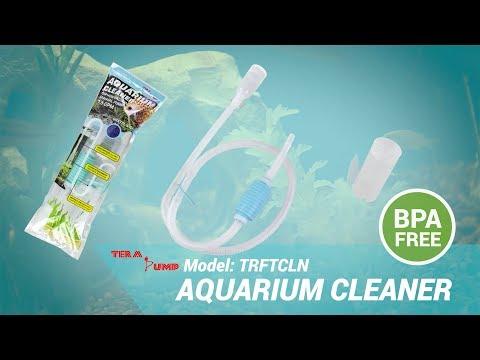 TERA PUMP Aquarium Cleaner Fish Tank Gravel Sand Siphon Vacuum Cleaner BPA Free (model: TRFTCLN)