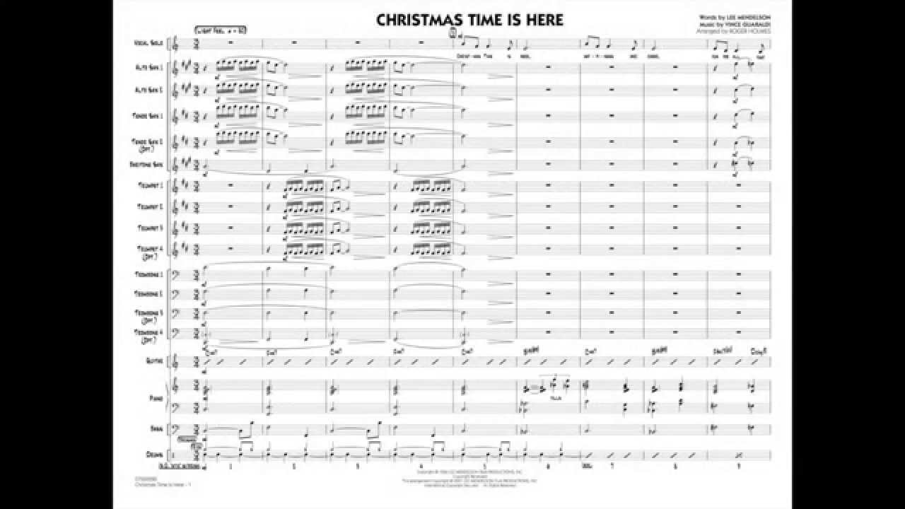 Christmas Time Is Here arranged by Roger Holmes - YouTube