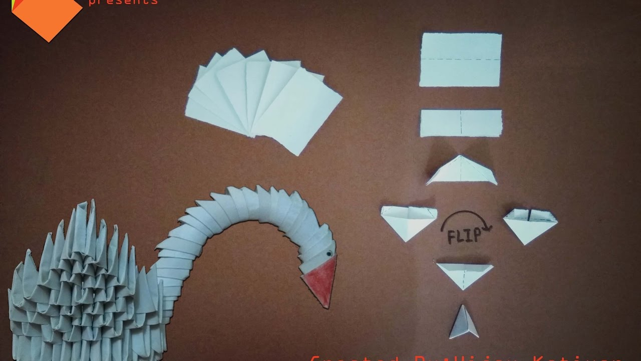 3d Origami Duck Just In 4 Step Youtube 3dorigamiswandiagram Dragon Diagram Dragons On