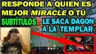 SUBTITULADO MidOne REVELA QUIEN ES MEJOR MIRACLE O ÉL | DOTA 2