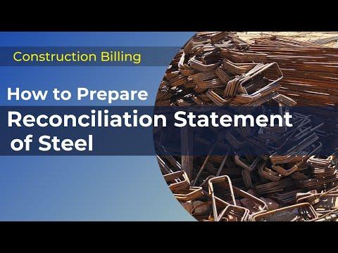 Steel Reconciliation Method For Construction Billing