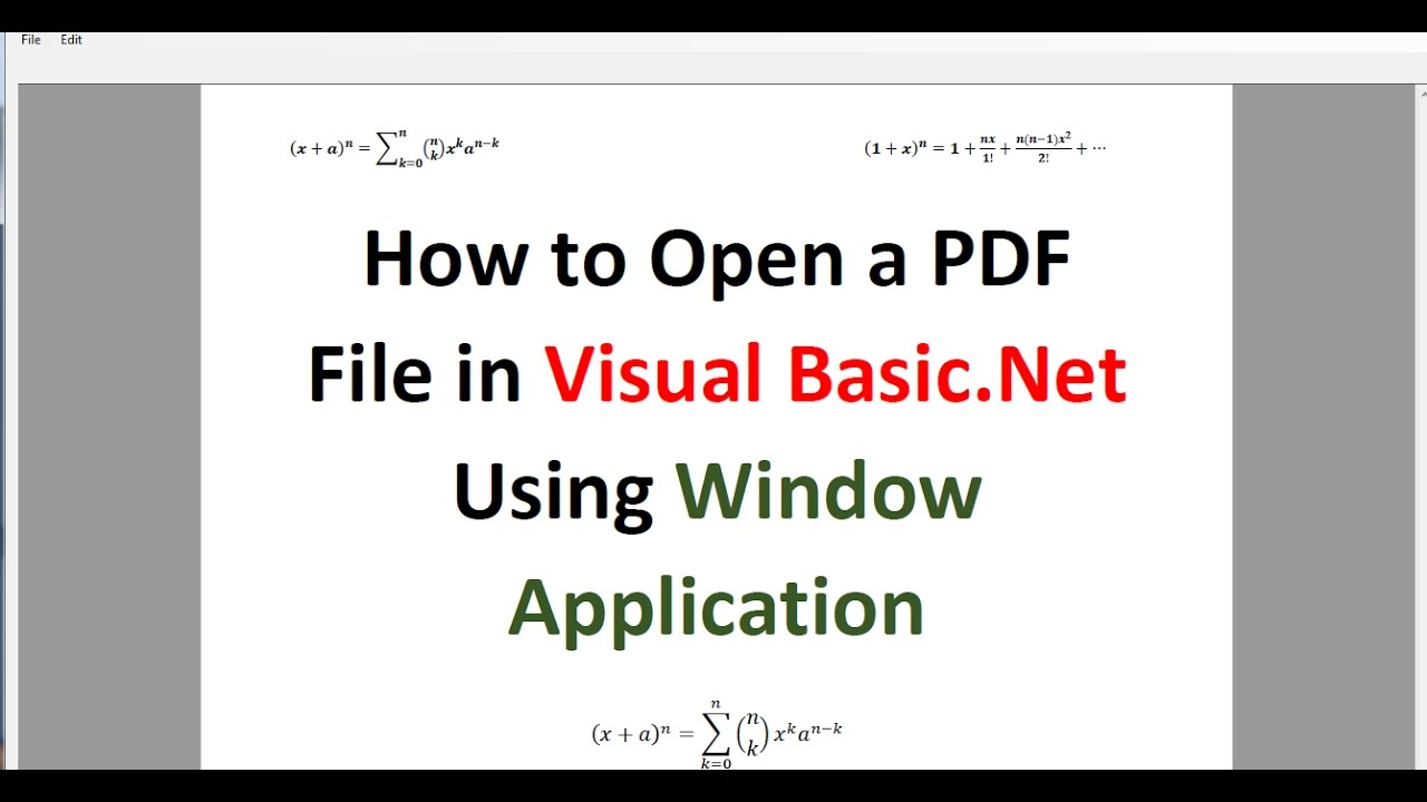 Pdf vb.net programming