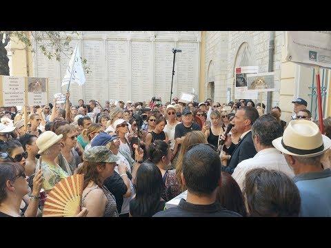 Manifestation CHAT massacré Draguignan