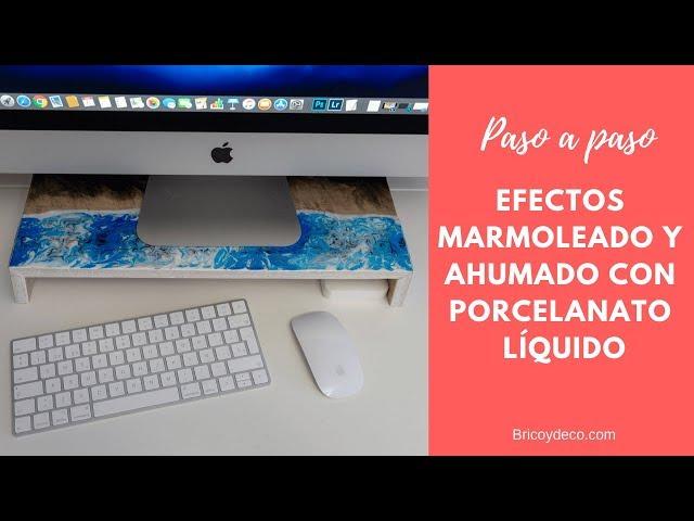 Cómo hacer Porcelanato Líquido con EFECTO MÁRMOL | RESINA EPOXI 3D en Español