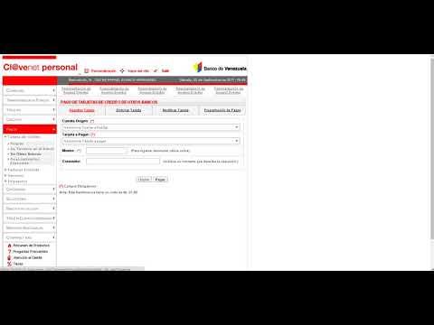 Paga tus tarjetas de credito con clavenet personal youtube for Banco de venezuela clavenet personal