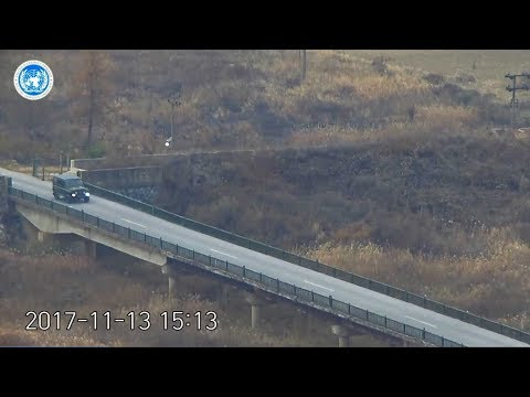Dramatic video shows escape, shooting of North Korean defector