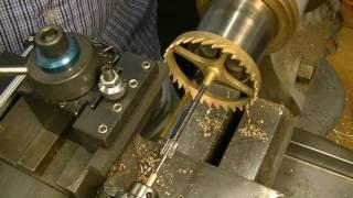 The Village Clockmaker. Clock repair tutorial #21. Topping a crown wheel.