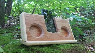 Passive iPhone Speaker - Made from Wood