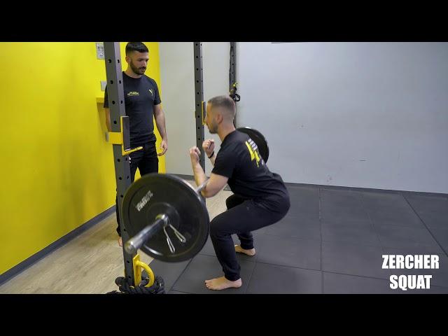 Zercher squat. Esecuzione e tecnica