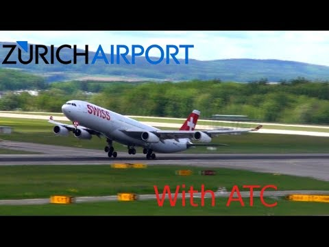 Summer Spotting in The Heart of Europe, Zurich!! 1 Hour with ATC!