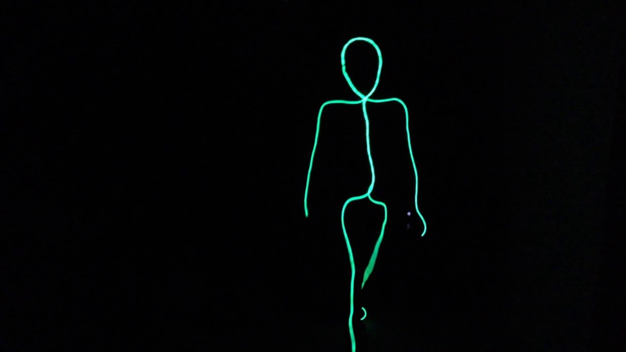 my sons stick figure halloween costume youtube - Halloween Led Costume