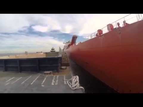Loading Barges from a Ship