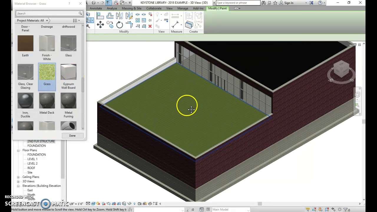 Creating A Green Roof Keystone Library CEA PLTW REVIT - YouTube