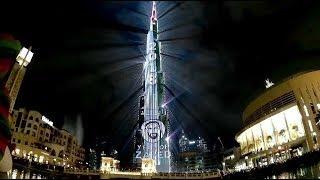 Новогоднее лазерное шоу в Дубае 2018.