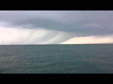 Greater Gabbard Offshore Wind farm storm