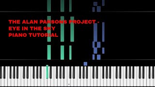 THE ALAN PARSONS PROJECT - EYE IN THE SKY - PIANO TUTORIAL