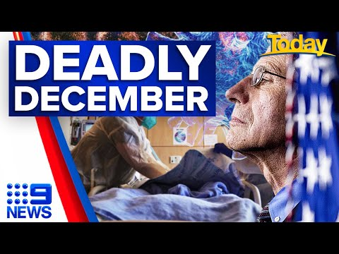 Coronavirus: USA records 63,000 deaths in December | 9 News Australia thumbnail