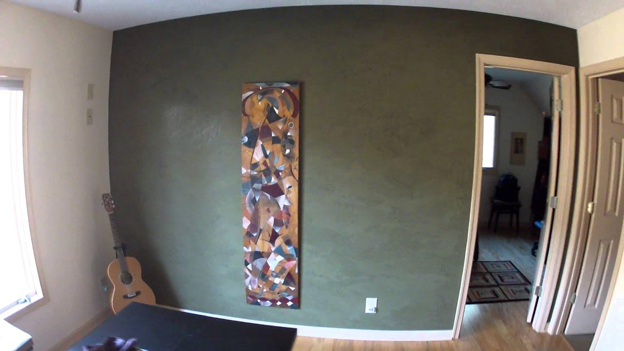 venetian plaster wall and art