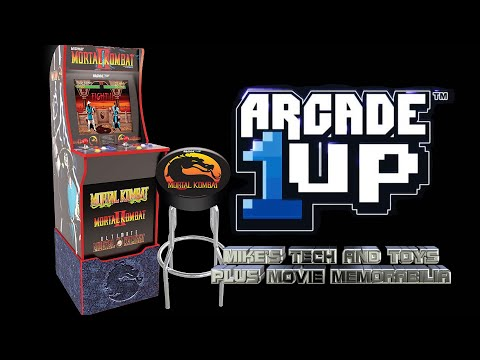 ARCADE1UP MORTAL KOMBAT ARCADE MACHINE with LIGHT UP MARQUEE from Mike's Tech and Toys Plus Movie Memorabilia