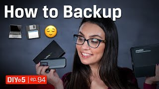 How Do You Backup Your Computer? 💻💾😌 DIY in 5 Ep 94