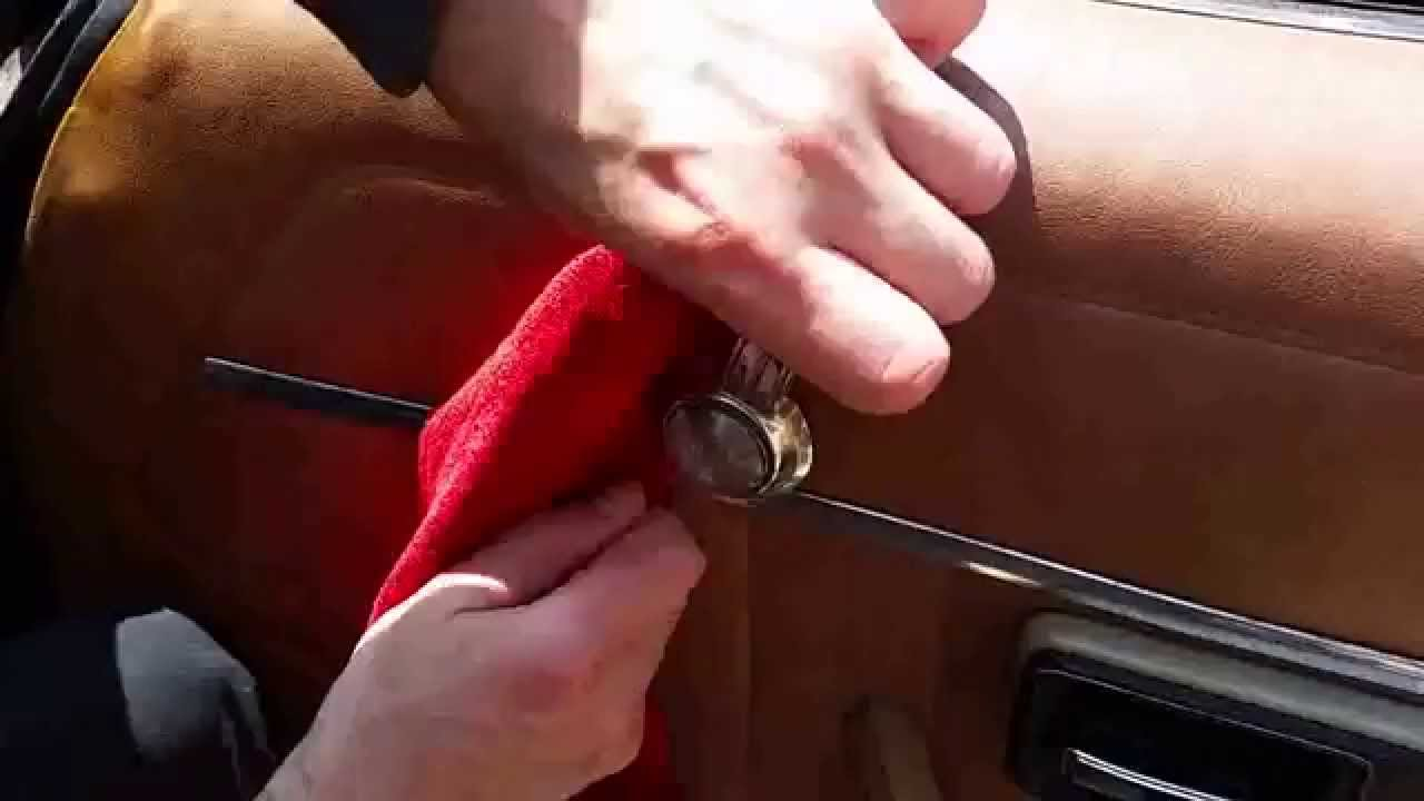 How To Remove And Replace A Car Window Crank Handle Youtube